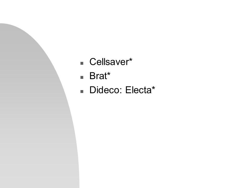 n Cellsaver* n Brat* n Dideco: Electa*