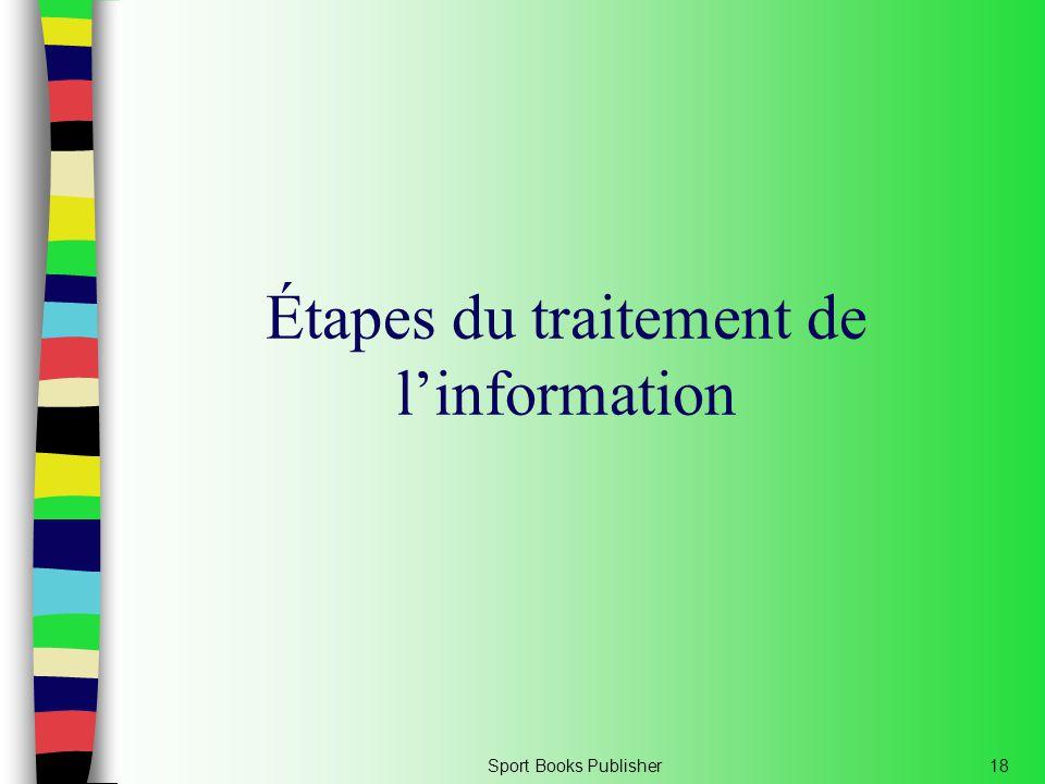 Sport Books Publisher18 Étapes du traitement de l'information