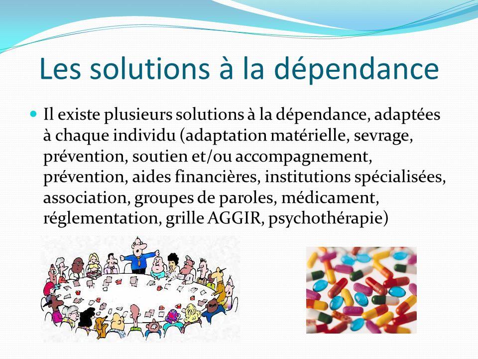 Les conséquences de la dépendance Elles peuvent être physique (diminution de l'autonomie, fatigue) Mais également mentale (agressivité, nervosité, név