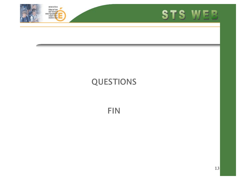 13 QUESTIONS FIN