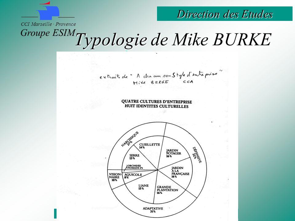 Direction des Etudes CCI Marseille · Provence Groupe ESIM Typologie de Mike BURKE