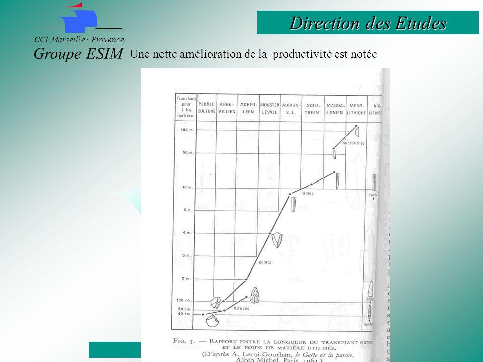 Direction des Etudes CCI Marseille · Provence Groupe ESIM Une nette amélioration de la productivité est notée