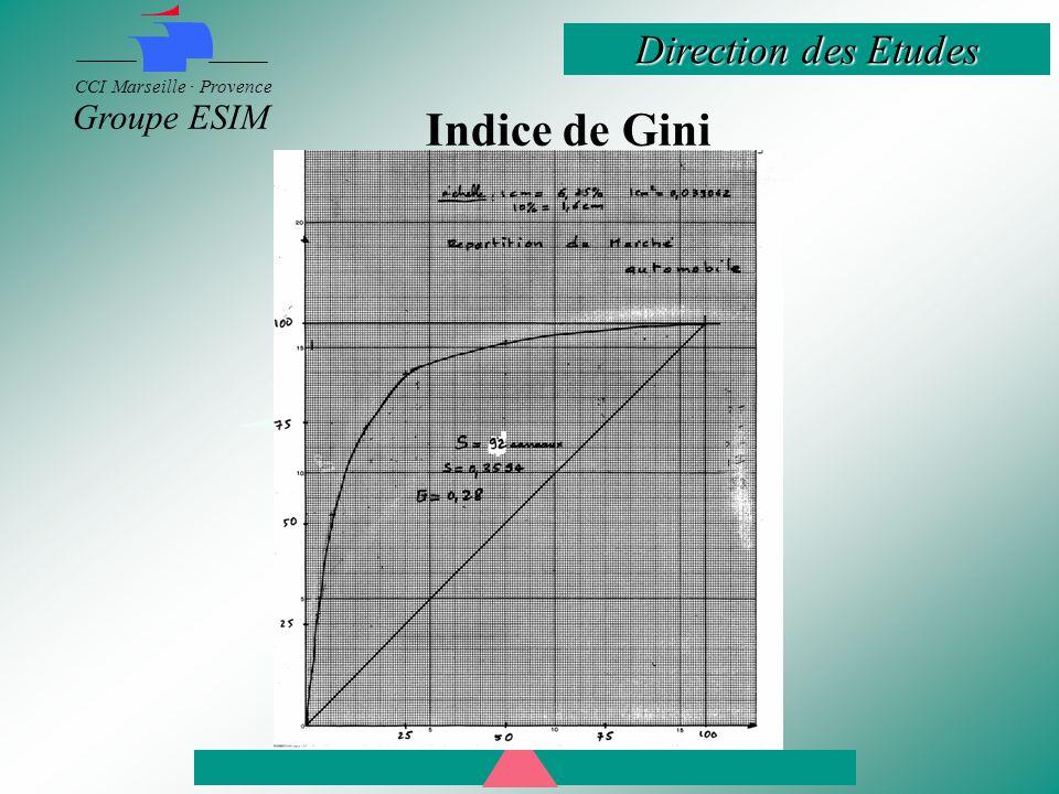 Direction des Etudes CCI Marseille · Provence Groupe ESIM Indice de Gini