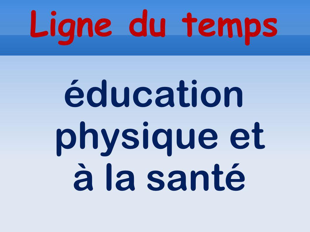 Ligne du temps éducation physique et à la santé