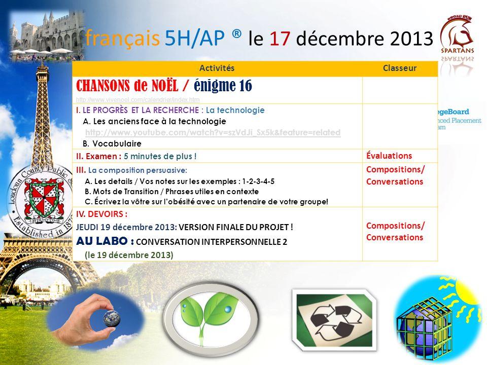 Expressions de transition français 5H / 6AP http://quizlet.com/1142265/ap-les-expressions-de-transition- flash-cards/ 1.A mon avis, l'avortement devrait être interdit.