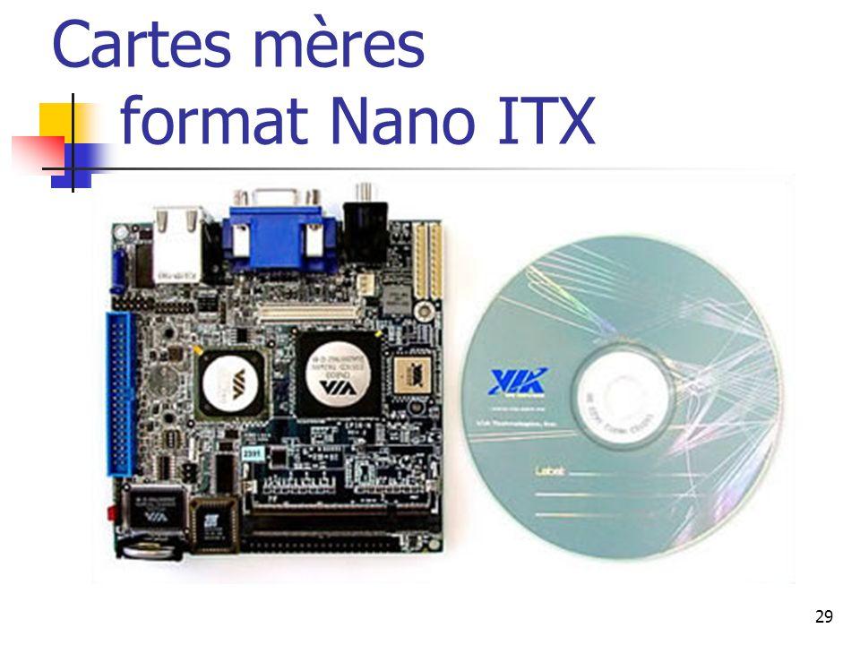 29 Cartes mères format Nano ITX