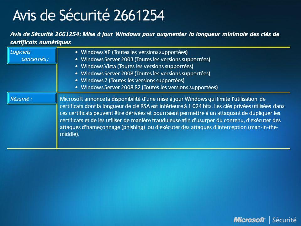 Avis de Sécurité 2661254