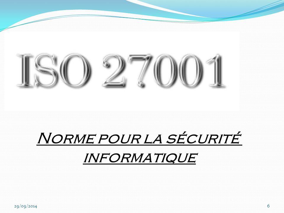 Qu'est ce qu'ISO 27001 .