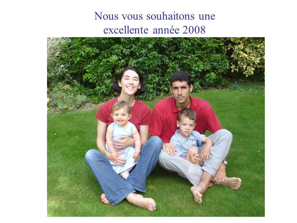 Nous vous souhaitons une excellente année 2008