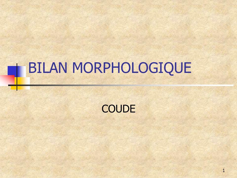 1 BILAN MORPHOLOGIQUE COUDE