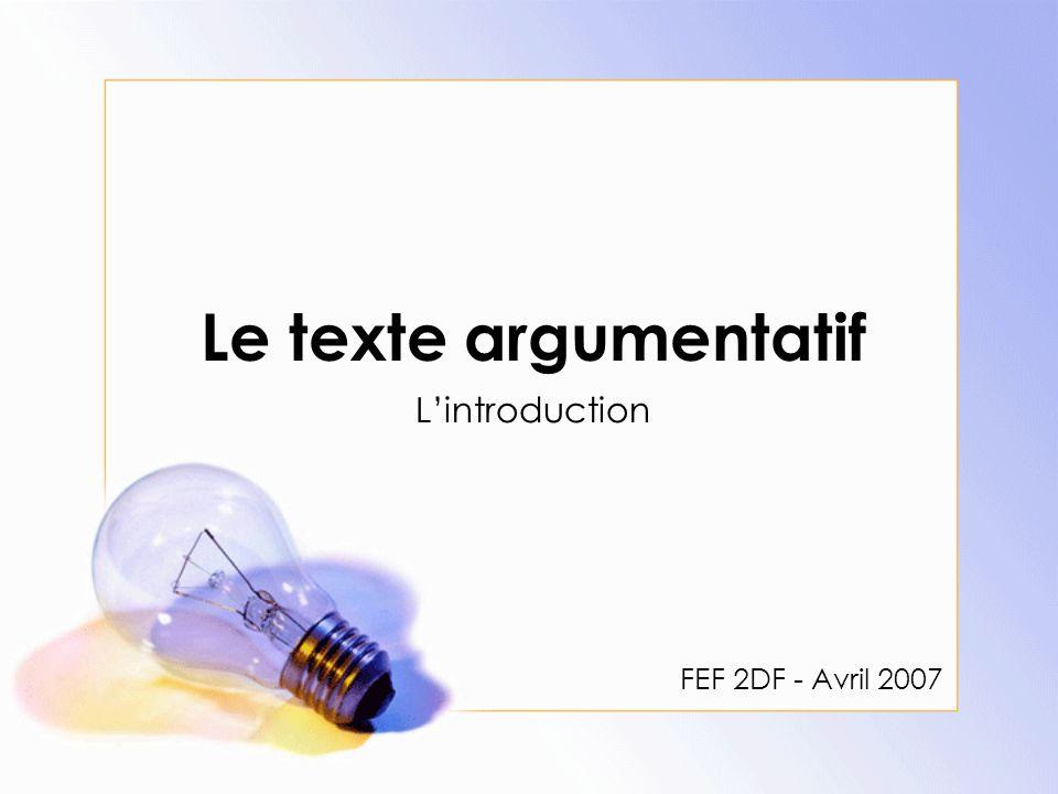 Qu'est-ce qu'un texte argumentatif.