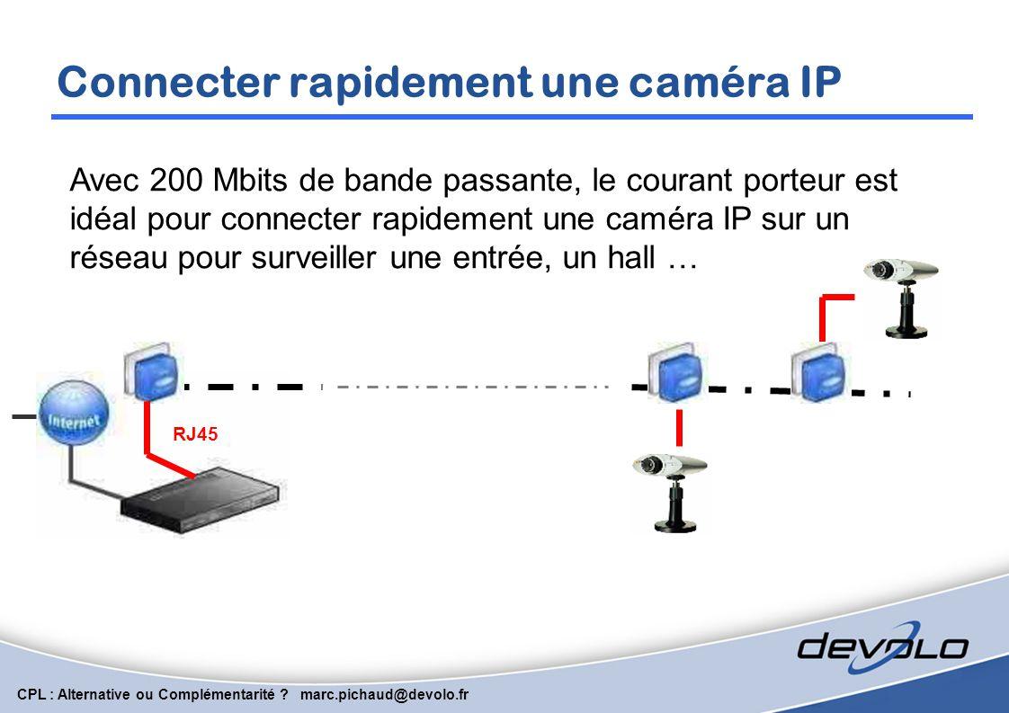 CPL : Alternative ou Complémentarité ? marc.pichaud@devolo.fr Répéter un signal avec 2 segments RJ45 Segment B Création de 2 segments permettant de ré
