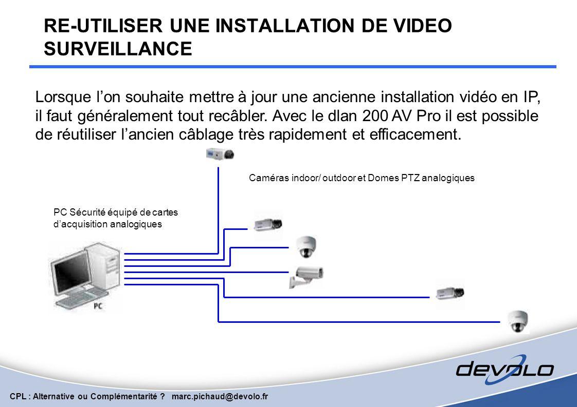 CPL : Alternative ou Complémentarité ? marc.pichaud@devolo.fr Hôtels : internet et vidéo sur coax VIDEO INTERNET VOIP On va réutiliser l'installation