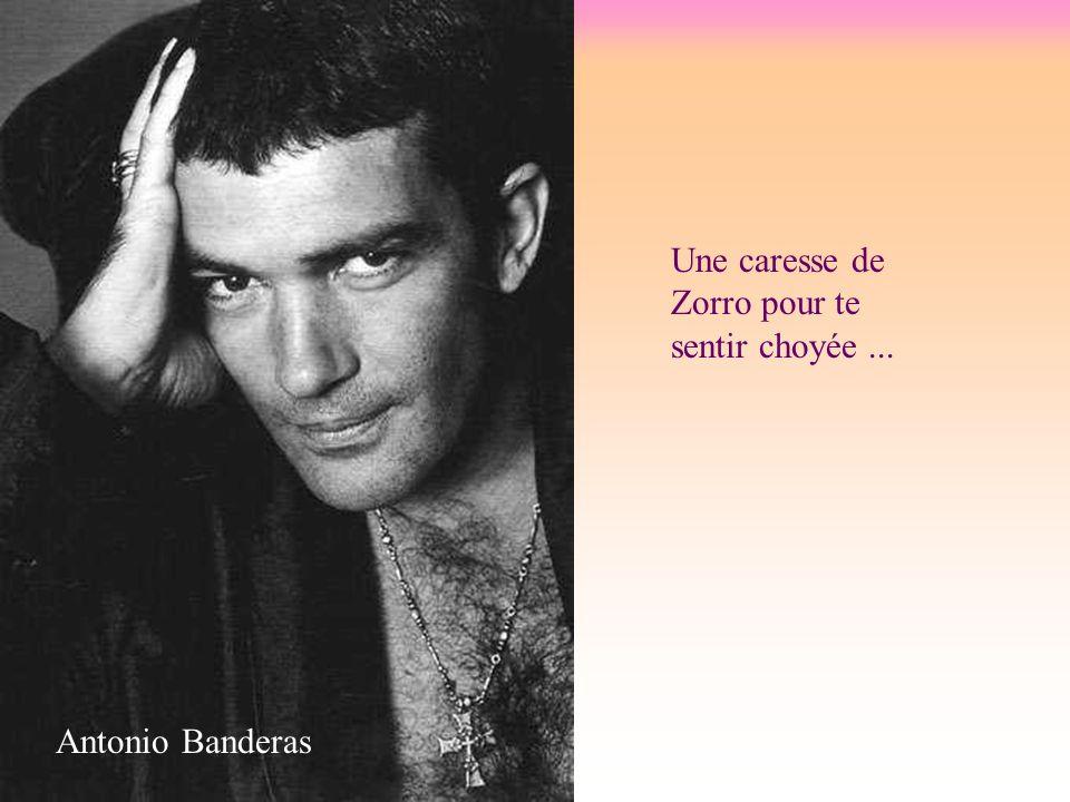 Une caresse de Zorro pour te sentir choyée... Antonio Banderas