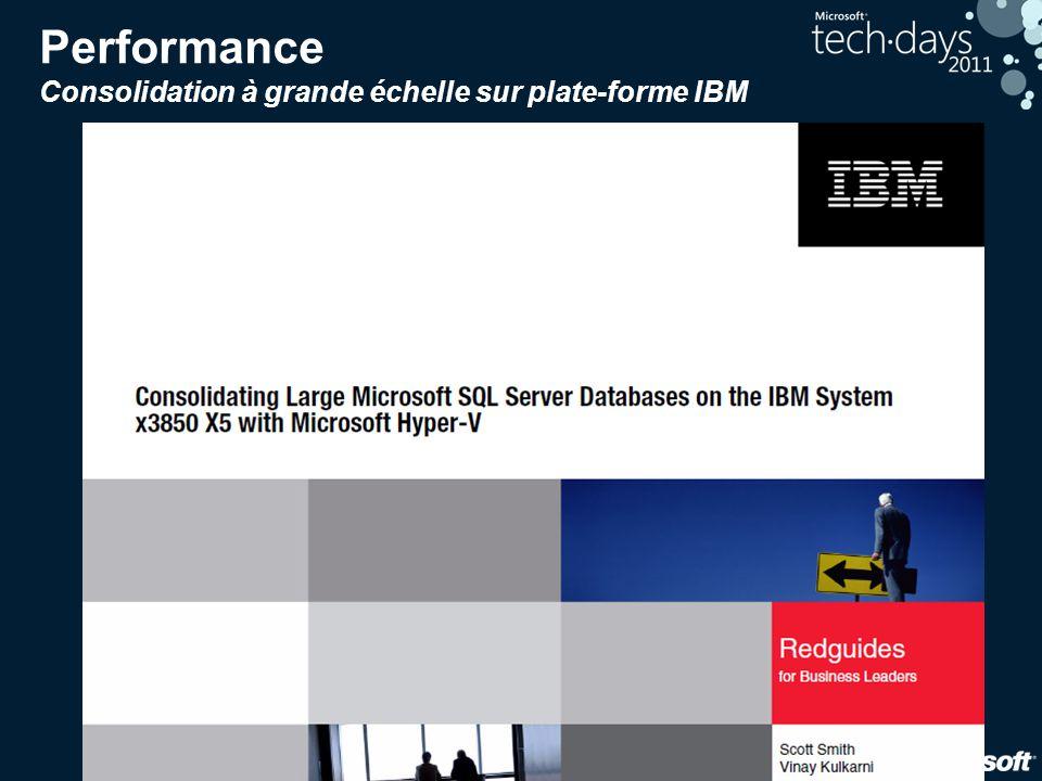 22 Performance Consolidation à grande échelle sur plate-forme IBM