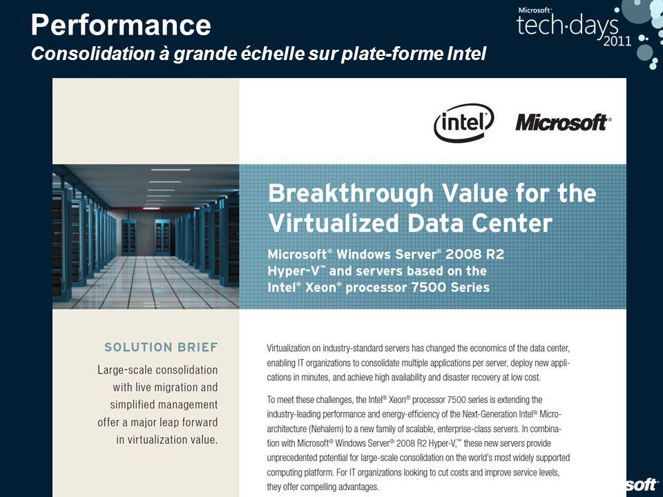 23 Performance Consolidation à grande échelle sur plate-forme Intel