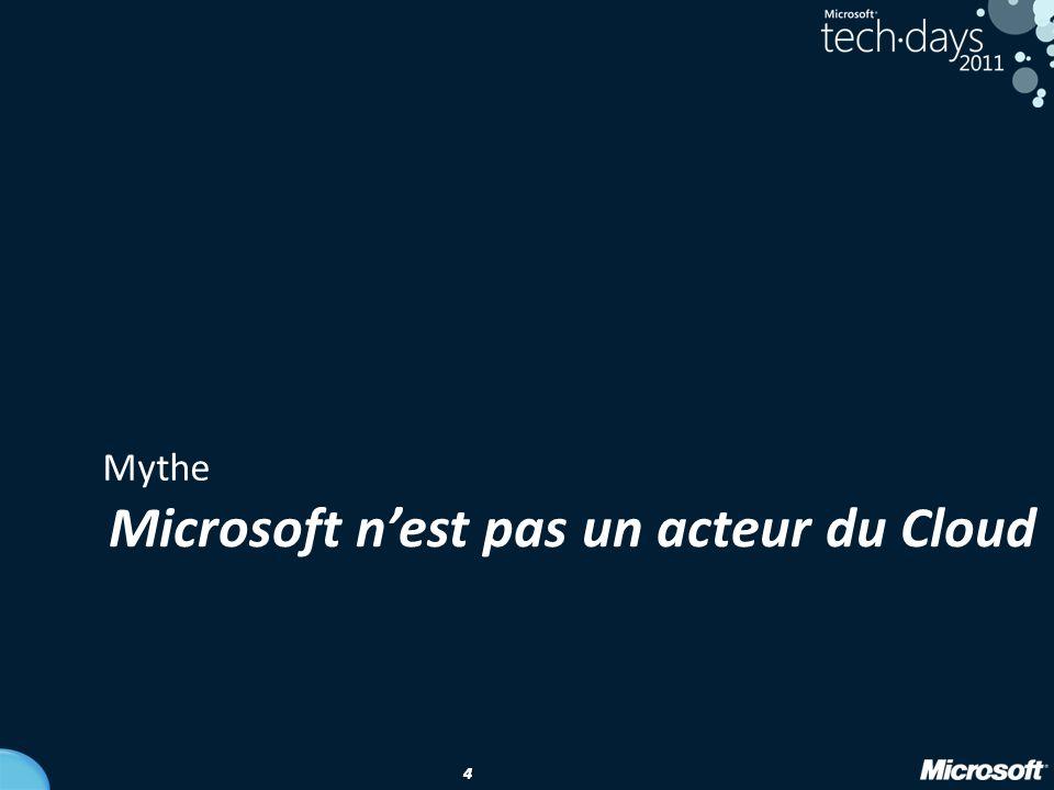 4 44 Mythe Microsoft n'est pas un acteur du Cloud