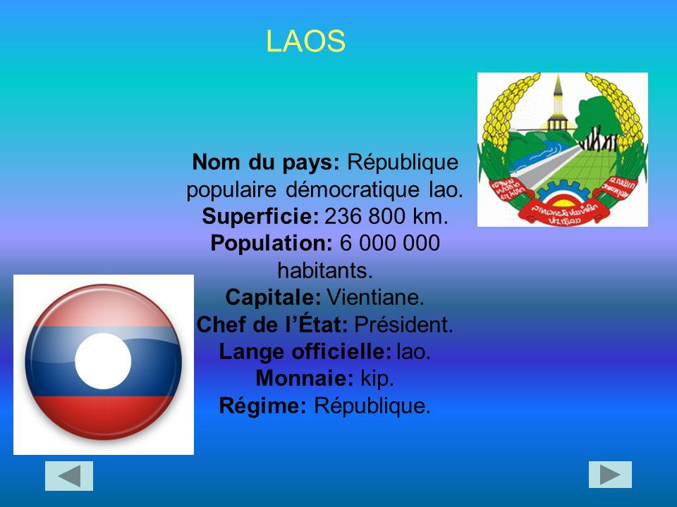 Le Laos est un pays d'Asie du Sud- Est.