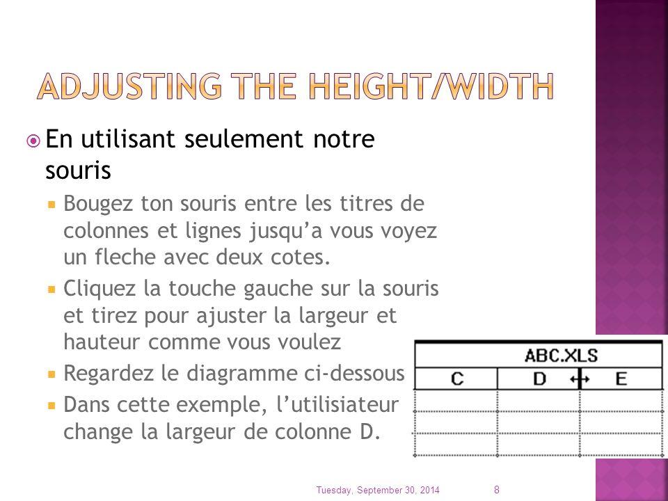  NOTEZ:  Quand les colonnes sont ajouter, ils sont placer a gauche de la partie sélectionnez.