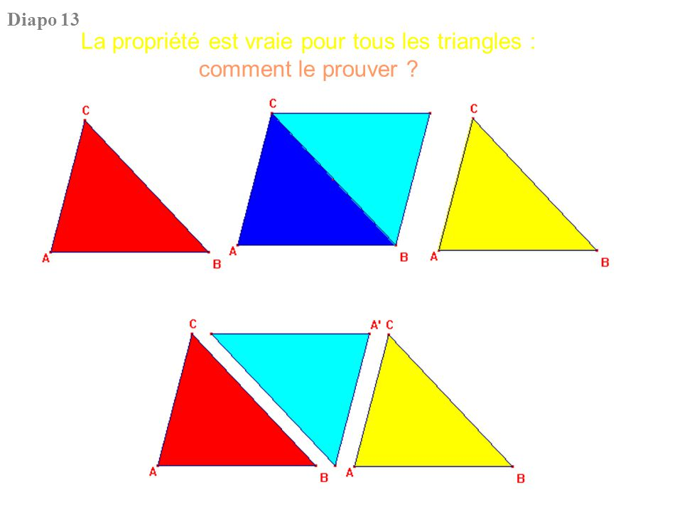 Théorème : la somme des angles d'un triangle est égale à deux droits Quelle est la validité d'une telle preuve .