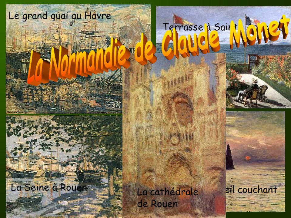 Monet va vivre pendant 40 ans, dans un petit village de Normandie: GIVERNY.
