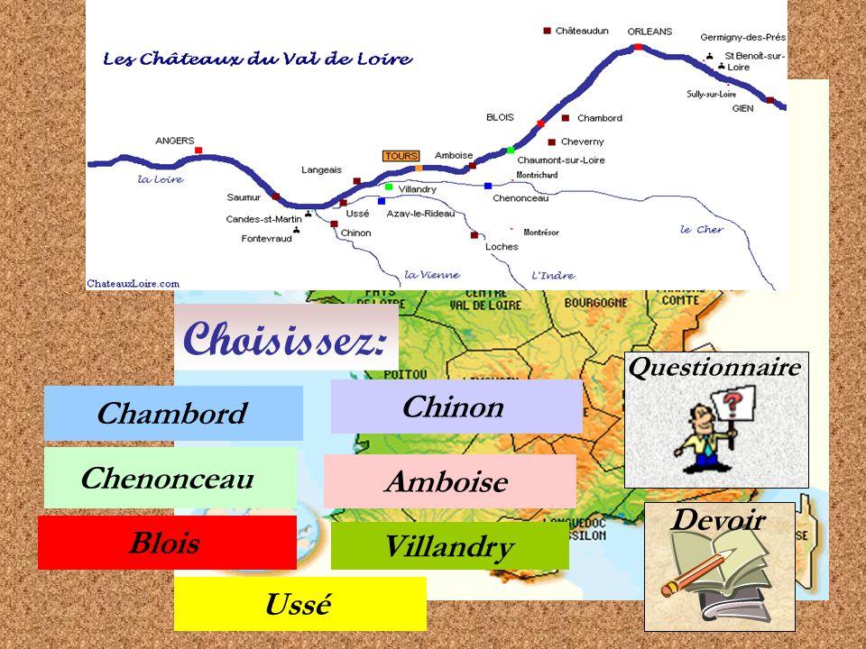 C'est pourquoi durant la Renaissance les rois et les seigneurs y ont fait construire tant de châteaux (plus de 70 châteaux qu'on appelle les merveilles du val de Loire).