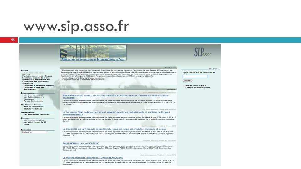 www.sip.asso.fr 14