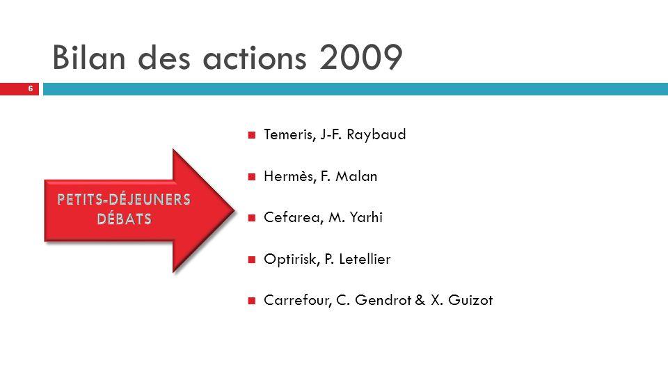 Bilan des actions 2009 Temeris, J-F. Raybaud Hermès, F.