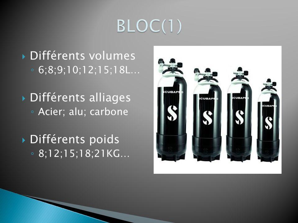  Différents volumes ◦ 6;8;9;10;12;15;18L…  Différents alliages ◦ Acier; alu; carbone  Différents poids ◦ 8;12;15;18;21KG…