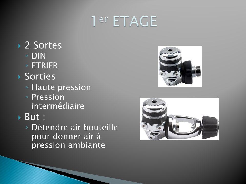  2 Sortes ◦ DIN ◦ ETRIER  Sorties ◦ Haute pression ◦ Pression intermédiaire  But : ◦ Détendre air bouteille pour donner air à pression ambiante