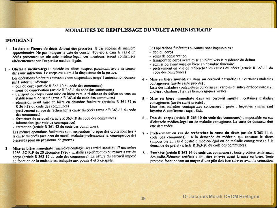 Dr Jacques Morali CROM Bretagne 39