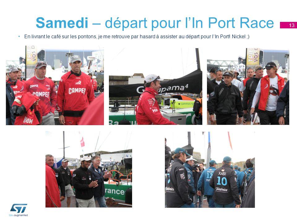 Samedi – départ pour l'In Port Race En livrant le café sur les pontons, je me retrouve par hasard à assister au départ pour l'In Port.