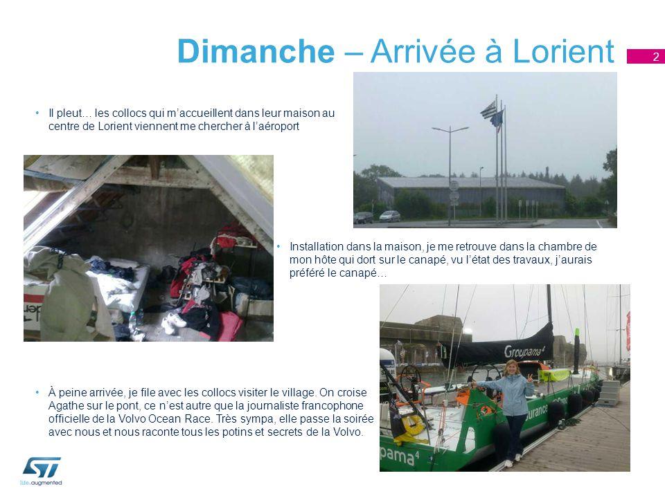 Dimanche – Arrivée à Lorient Il pleut… les collocs qui m'accueillent dans leur maison au centre de Lorient viennent me chercher à l'aéroport 2 Install