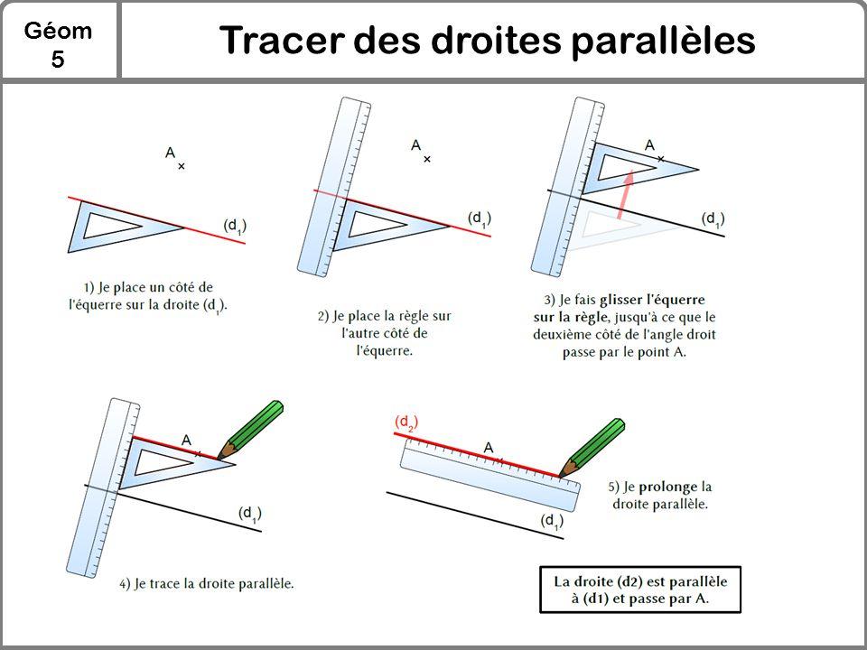 Géom 5 Tracer des droites parallèles