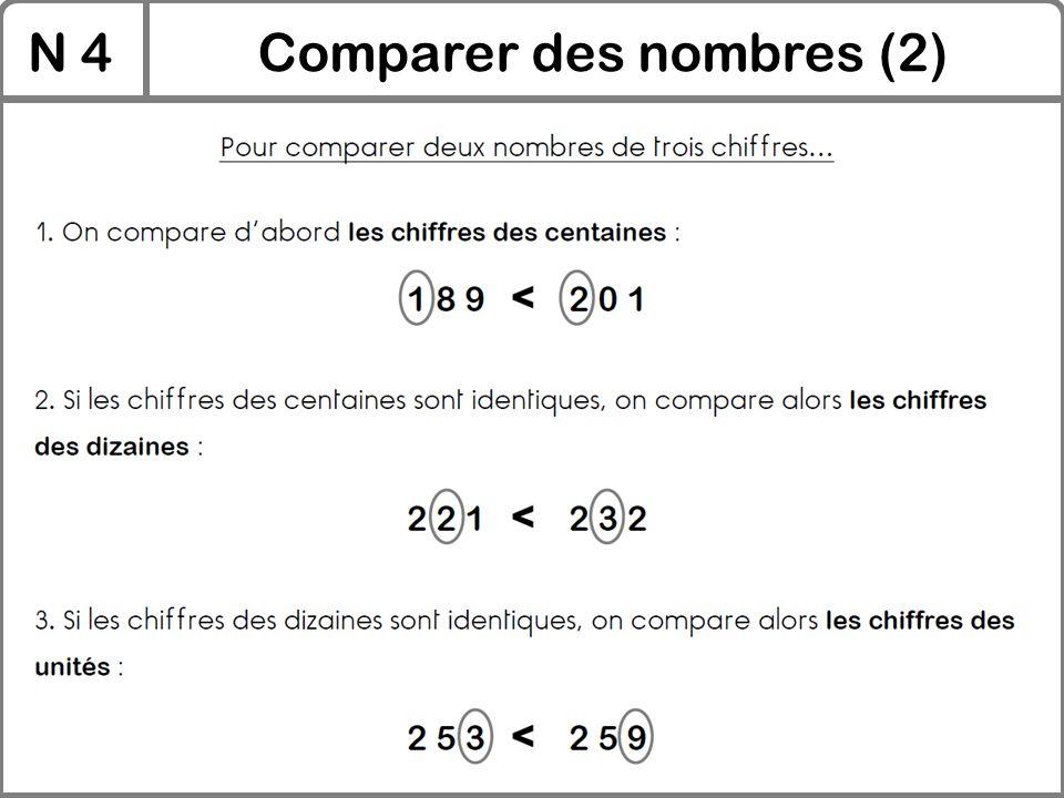 N 4Comparer des nombres (2)