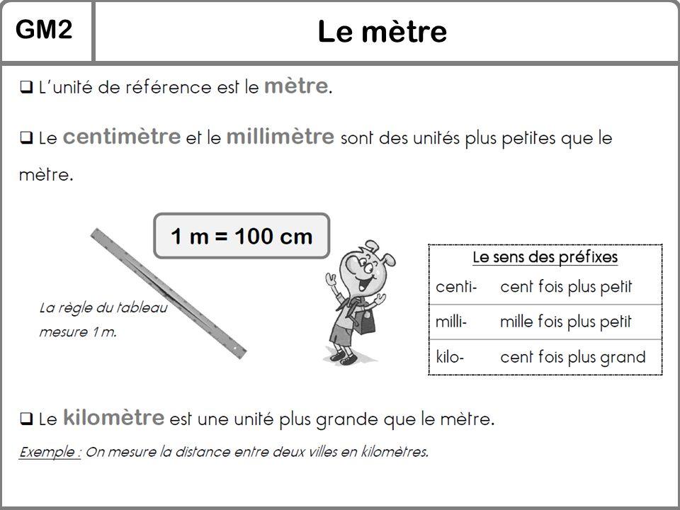 GM2 Le mètre
