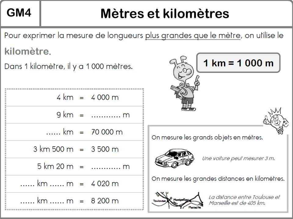 GM4 Mètres et kilomètres