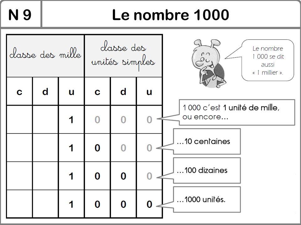 N 9Le nombre 1000