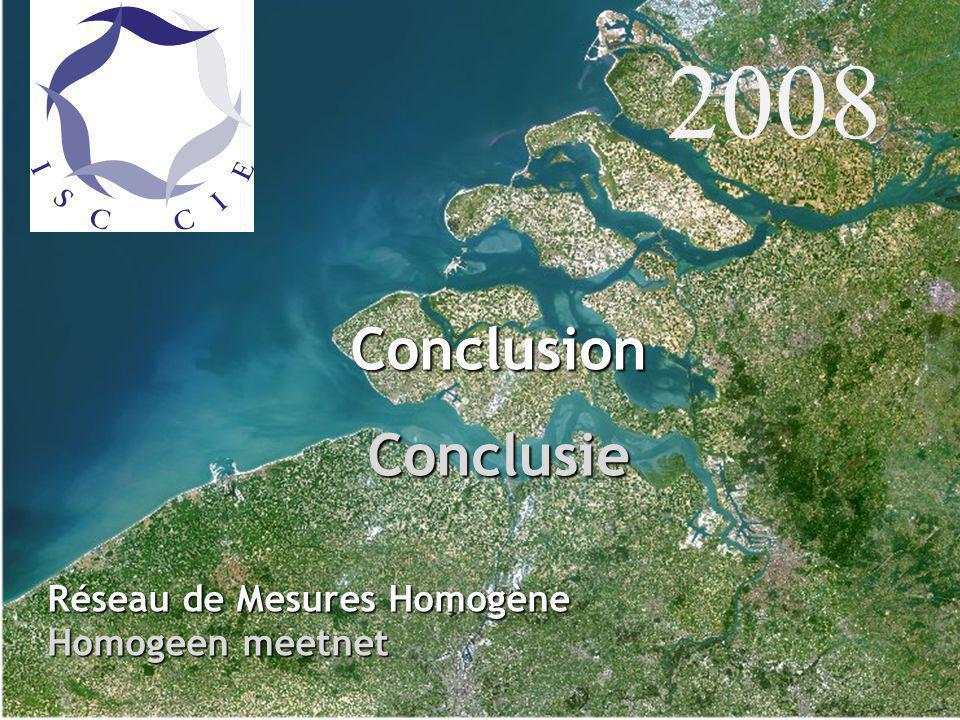 ConclusionConclusie Réseau de Mesures Homogène Homogeen meetnet 2008