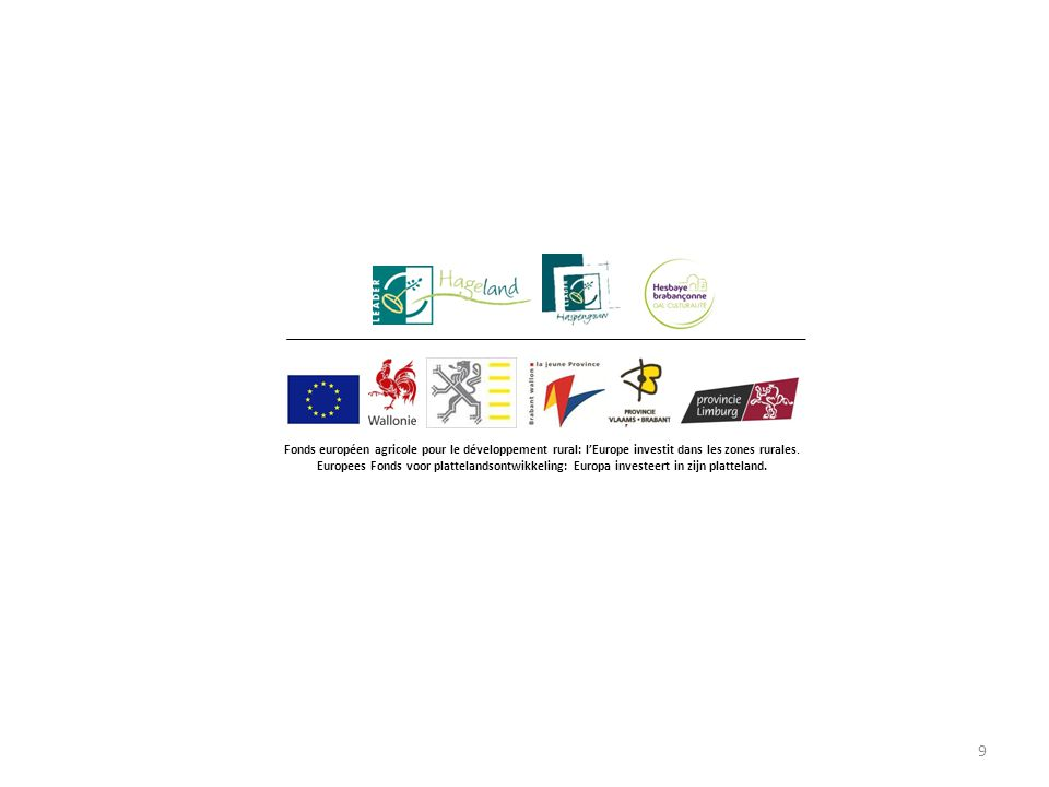 9 Fonds européen agricole pour le développement rural: l'Europe investit dans les zones rurales.
