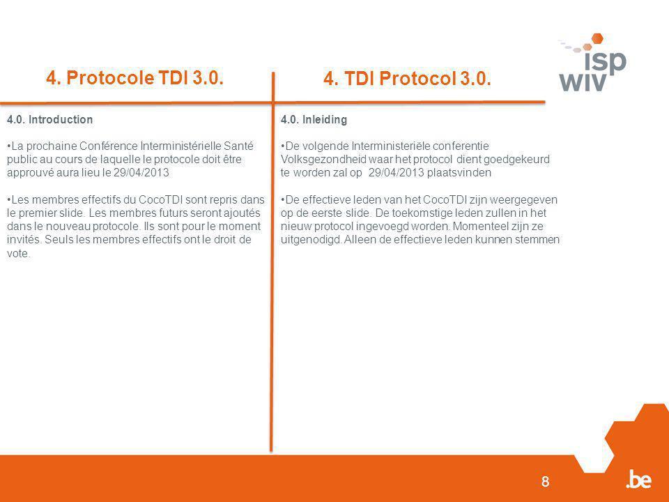 8 4. Protocole TDI 3.0. 4. TDI Protocol 3.0. 4.0.