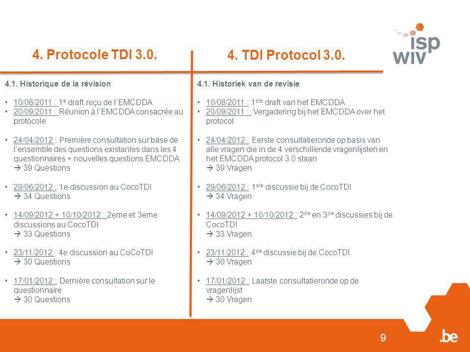 9 4. Protocole TDI 3.0. 4. TDI Protocol 3.0. 4.1.