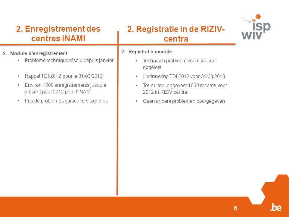 6 2. Enregistrement des centres INAMI 2.