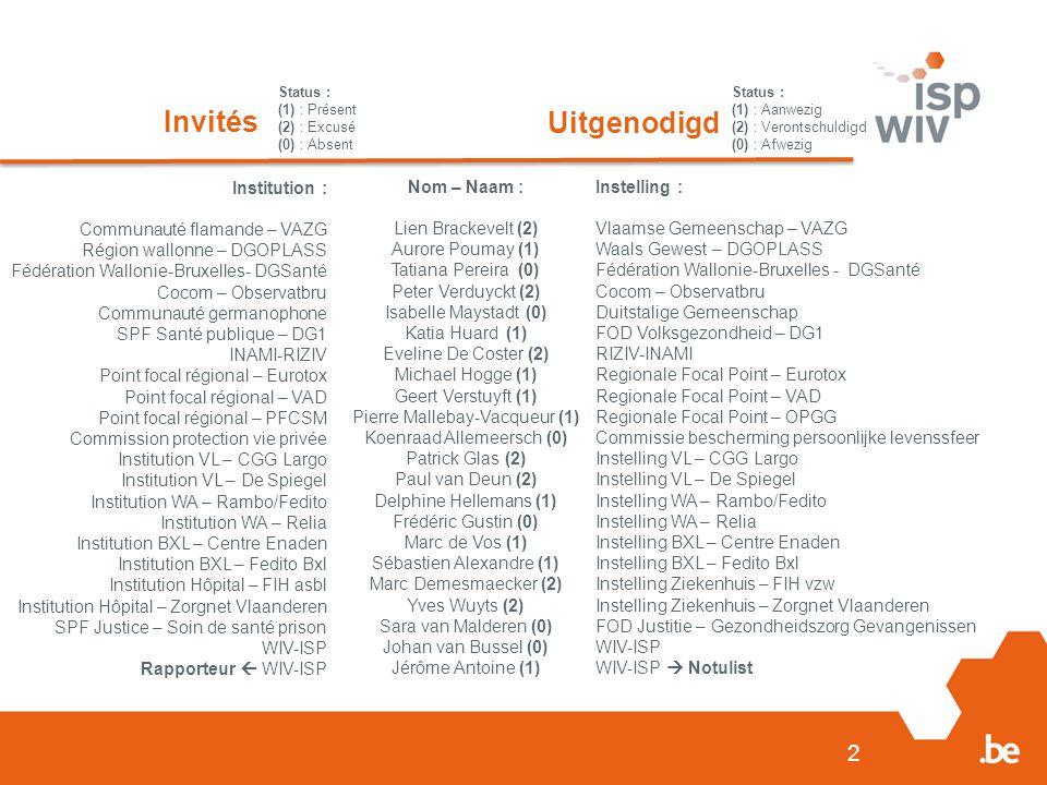 3 Agenda 20/12/2013 1.Informations générales 1.1.Approbation PV précédent 1.2.