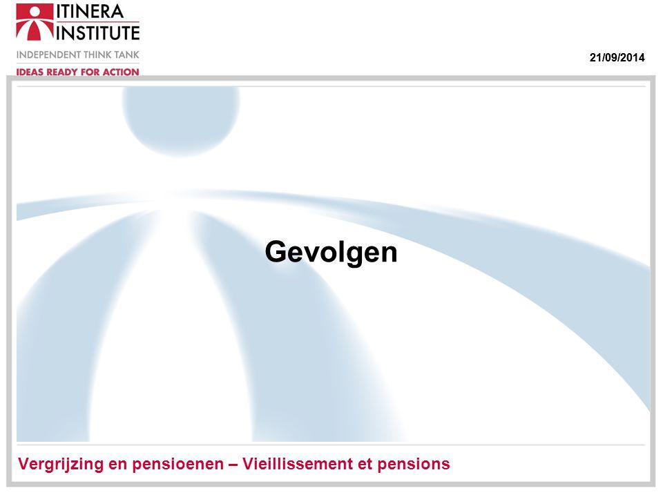 21/09/2014 Gevolgen Vergrijzing en pensioenen – Vieillissement et pensions