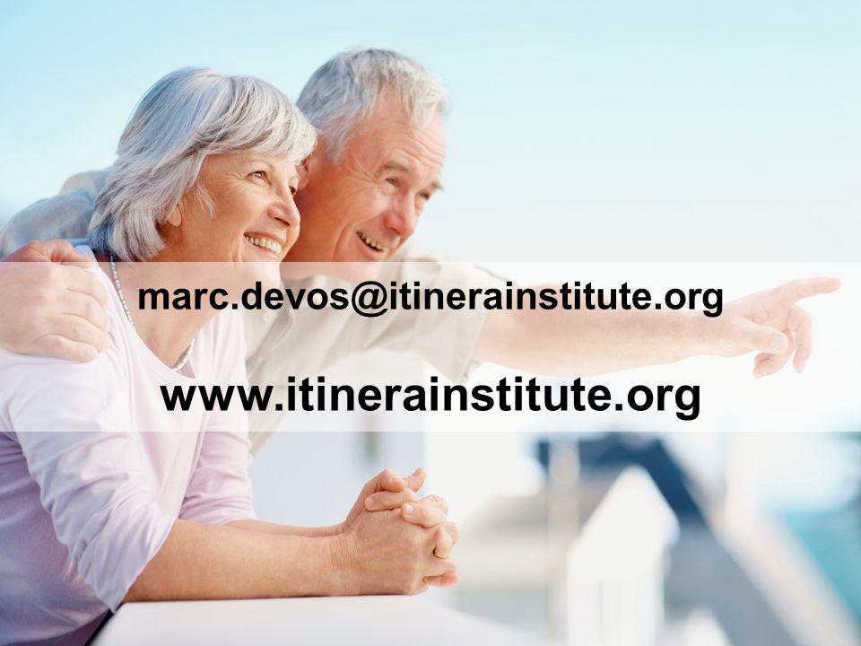 marc.devos@itinerainstitute.org www.itinerainstitute.org