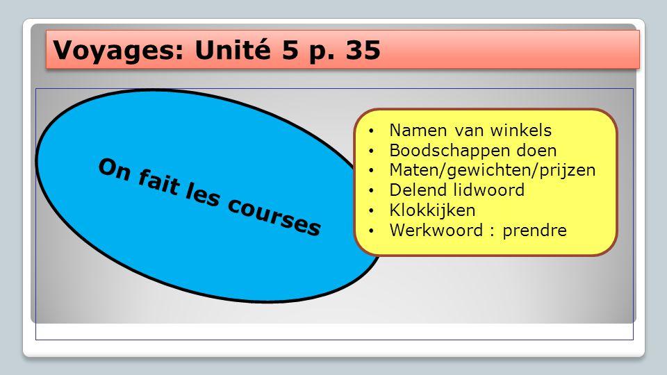 Et avec ça? Voyages : Unité 5A p. 34 C'est combien?
