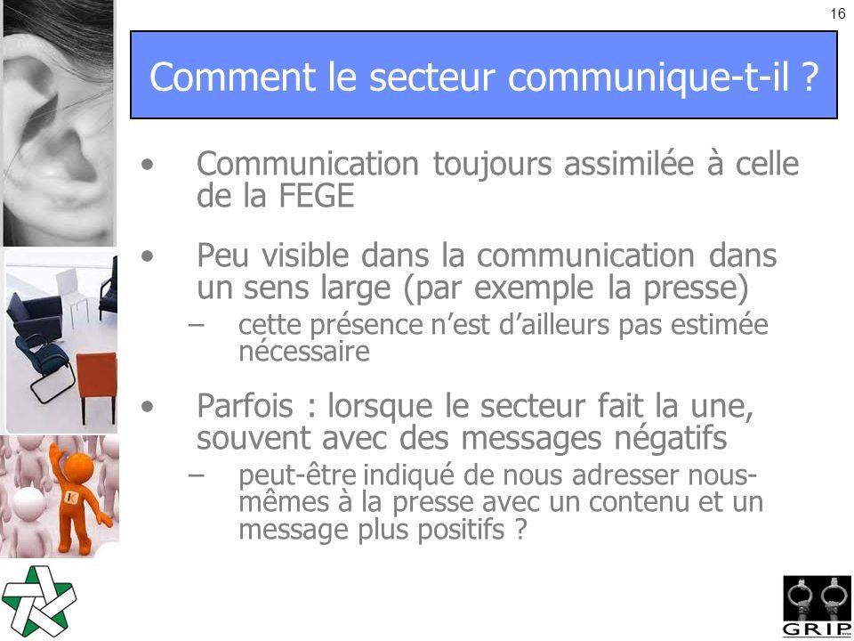 16 Comment le secteur communique-t-il .
