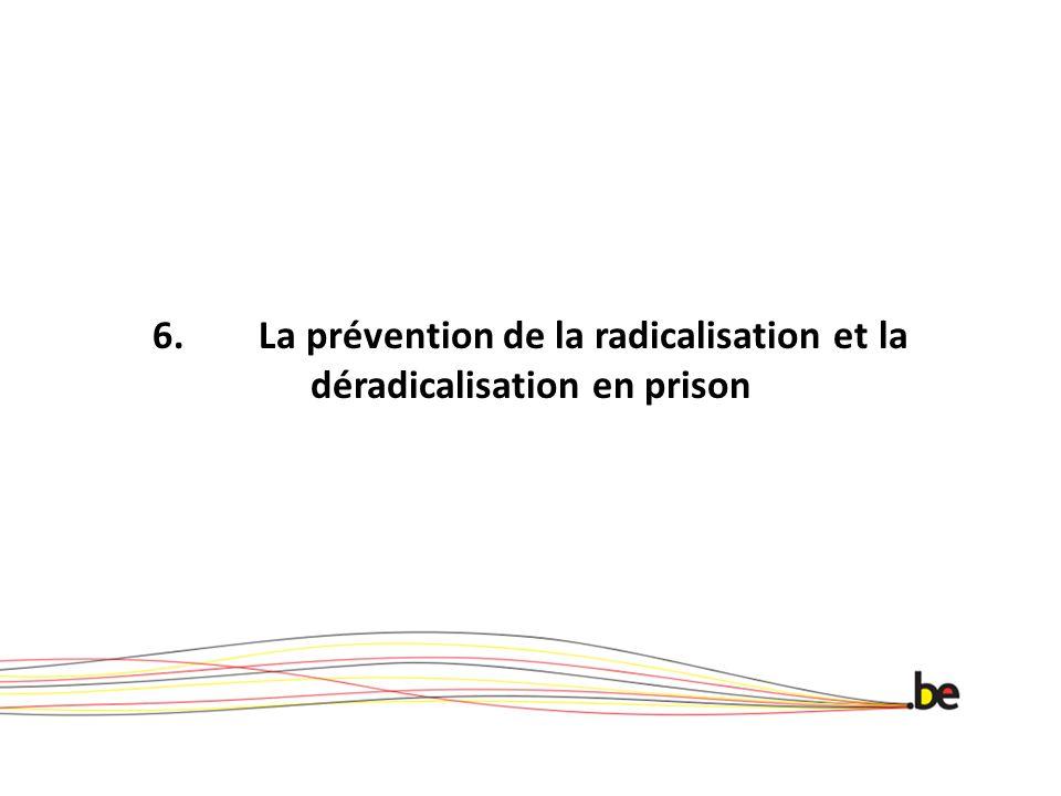 6. La prévention de la radicalisation et la déradicalisation en prison