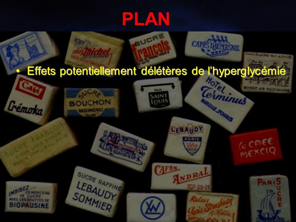 10 PLAN Effets potentiellement délétères de l'hyperglycémieEffets potentiellement délétères de l'hyperglycémie